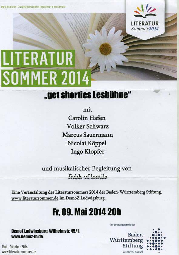 Literatursommer 2014 Ludwigsburg