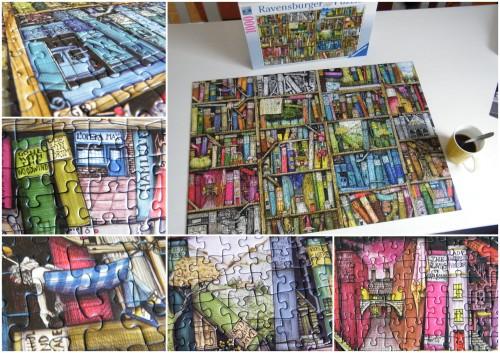Puzzle Bücherregal