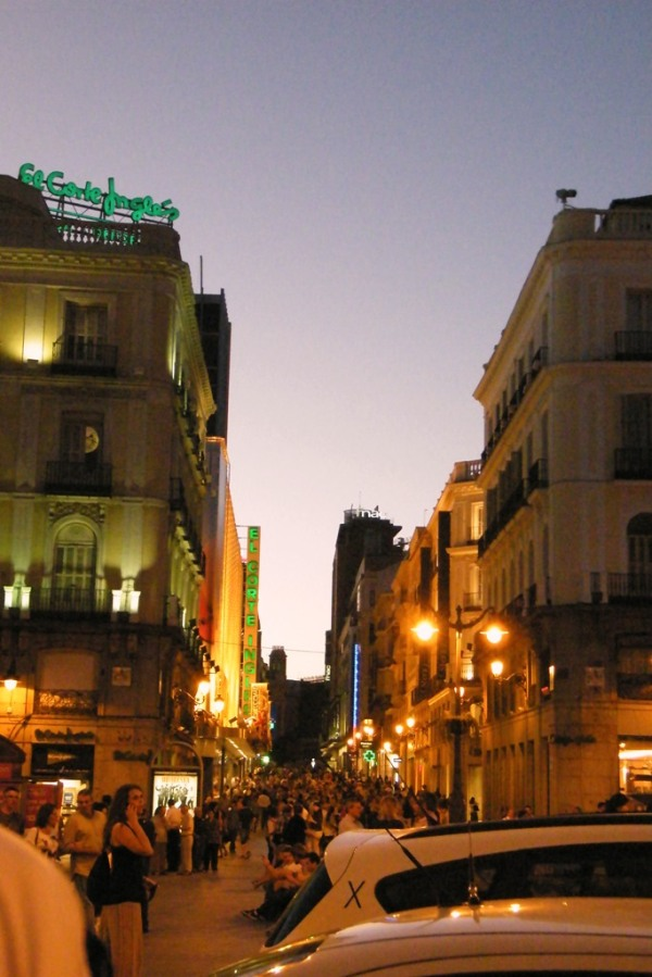 Madrid am Abend