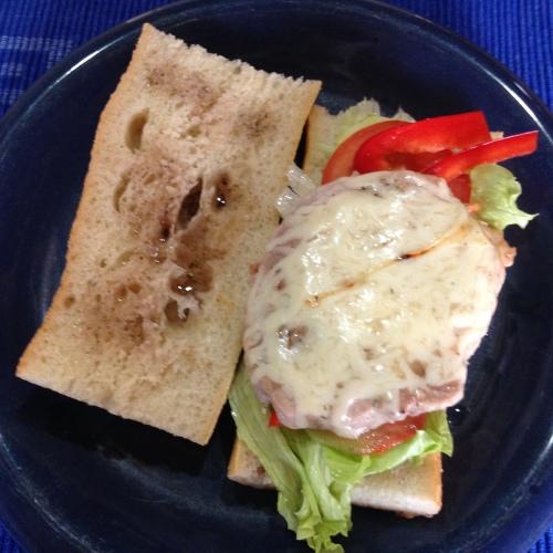 Steakbaguette a la Spider. Selbst gemacht. Boah, ich werd´noch ein Foodblogger. :)